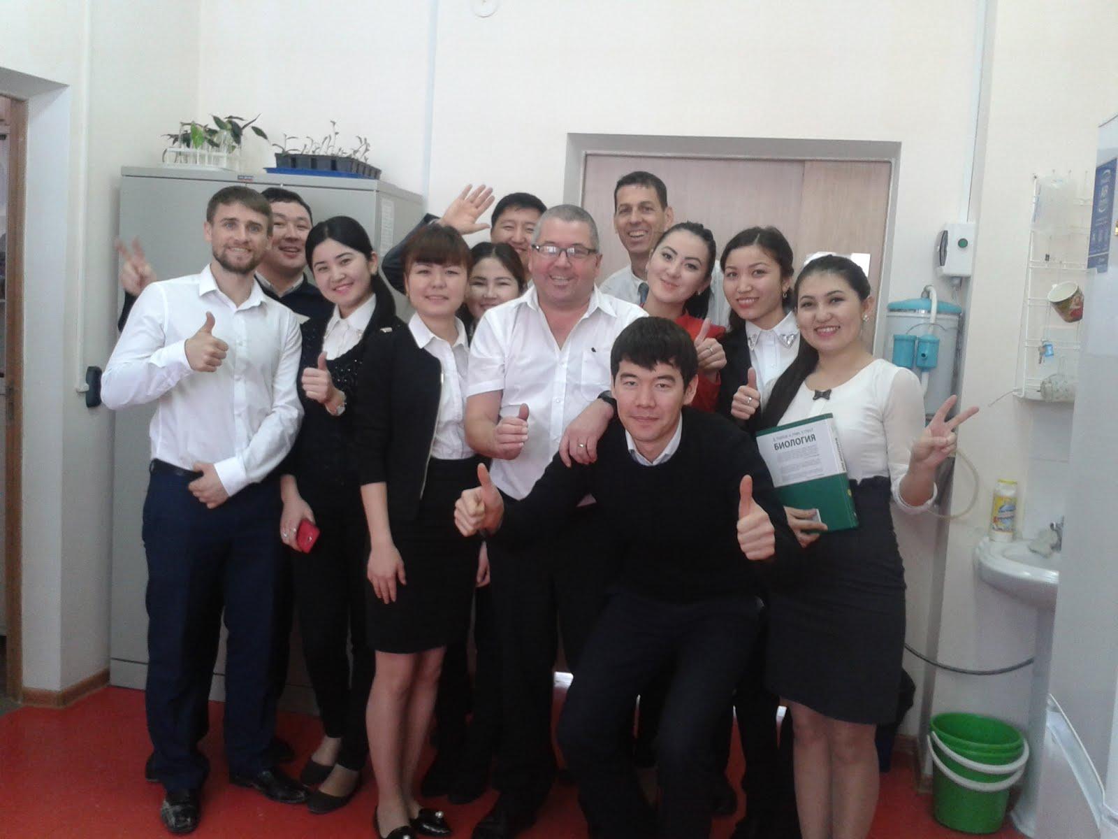 Teaching colleagues in Kazakhstan