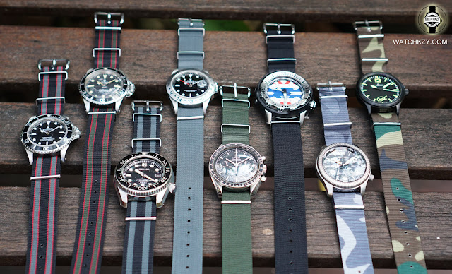 Nato straps with diver's watches