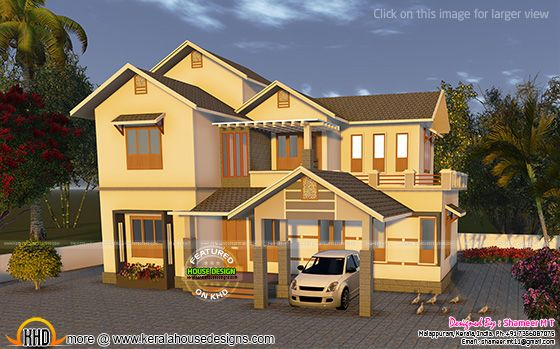 House rendering in yellow