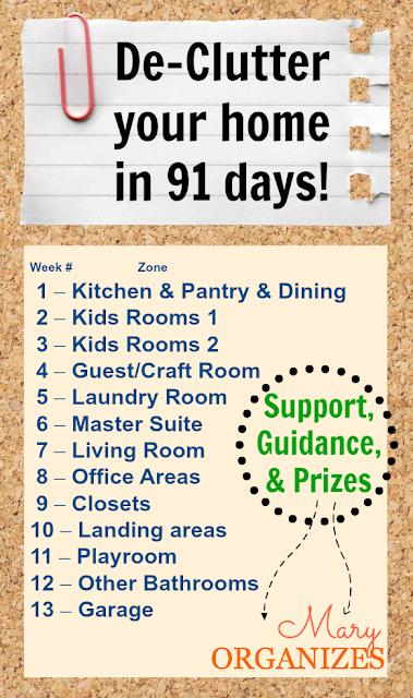 Declutter artista 91 day de clutter challenge week 1 for Declutter house plan