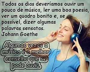 Ouvir boa música acalma