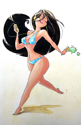 Cartoon pin up Girl