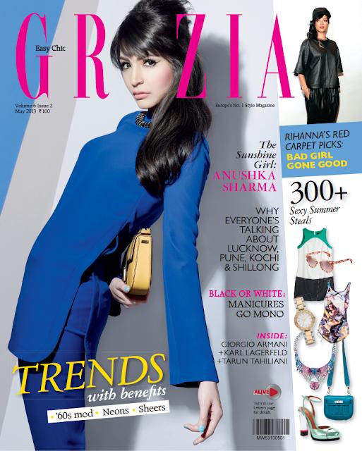 Anushka Sharma on the cover page of Grazia magazine