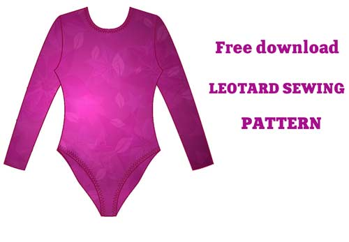 Rhythmic gymnastics leotards: LEOTARD SEWING PATTERN - FREE DOWNLOAD
