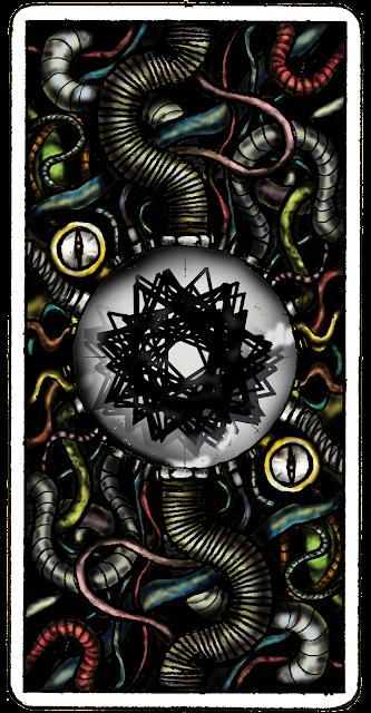 reverso cartas del Tarot al estilo steampunk, tuberias, cables, conexiones y mucho metal oxidado. Pintado digitalmente en photoshop CS4