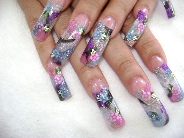 fingernail design long nails