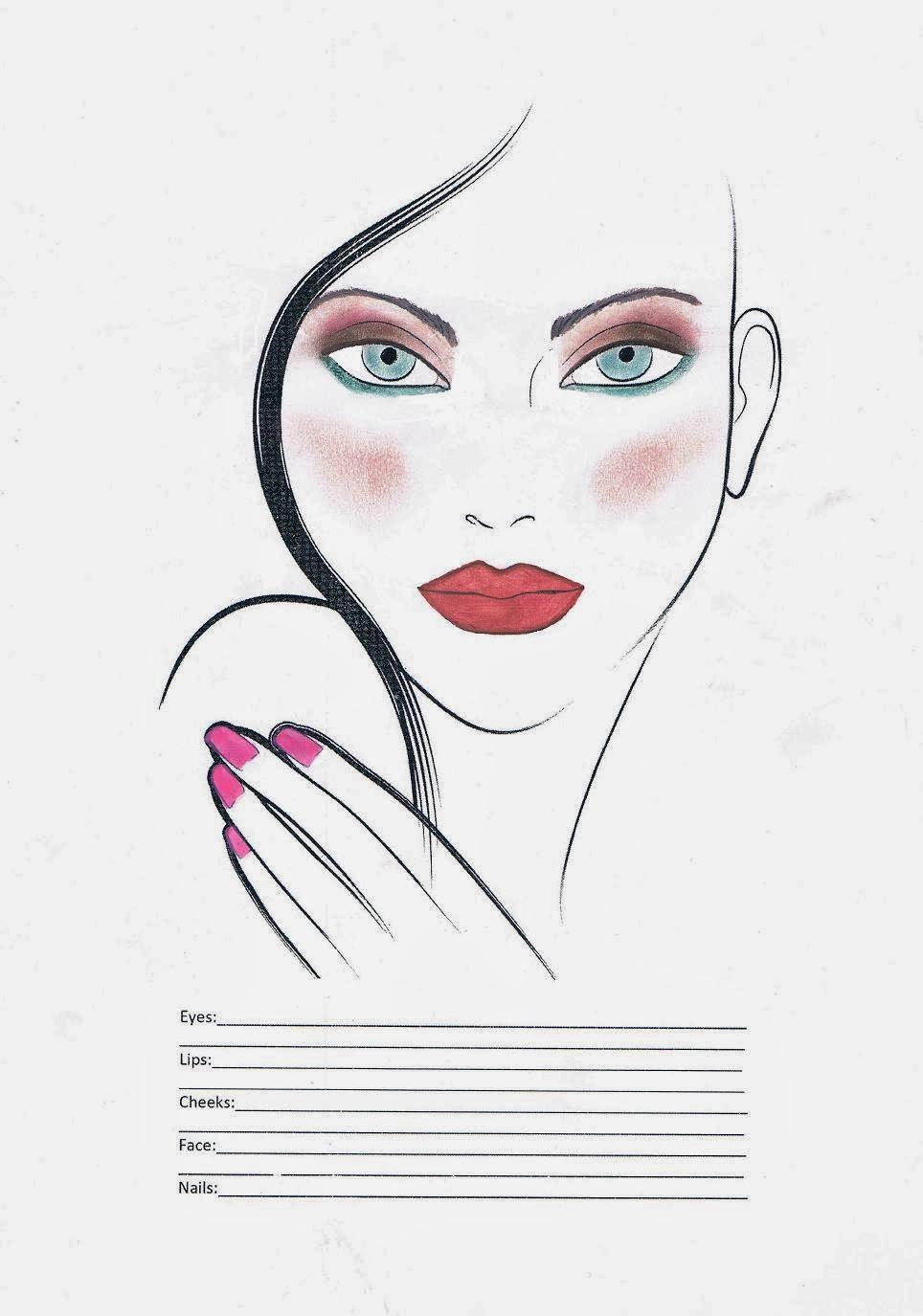 FACE CHART - makijaż ślubny Magdy