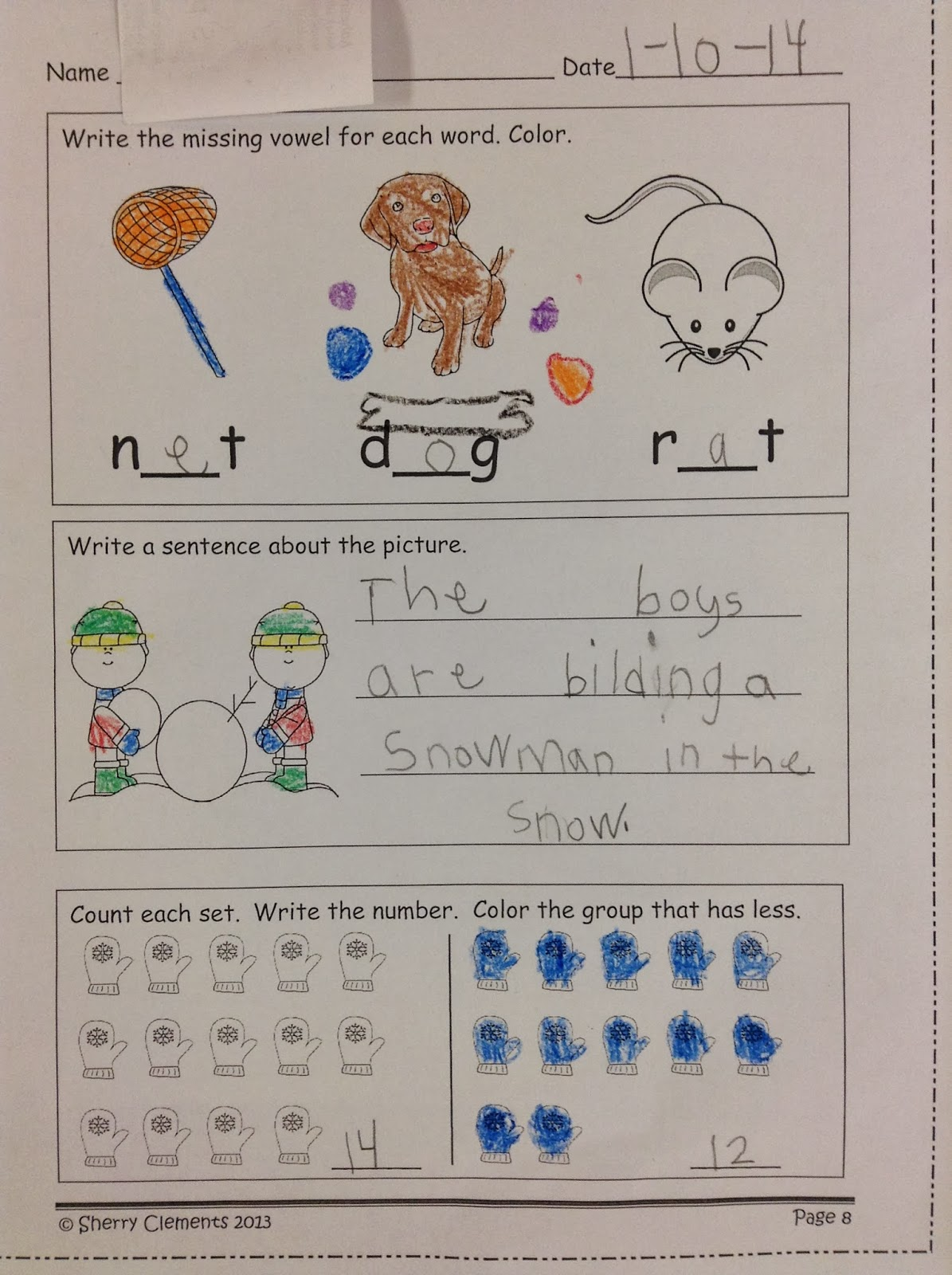 Dr. Clements\' Kindergarten : Morning Work (Student samples PLUS ...