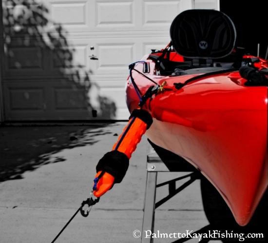 Palmetto kayak fishing quick release diy kayak anchor for Fishing kayak anchor