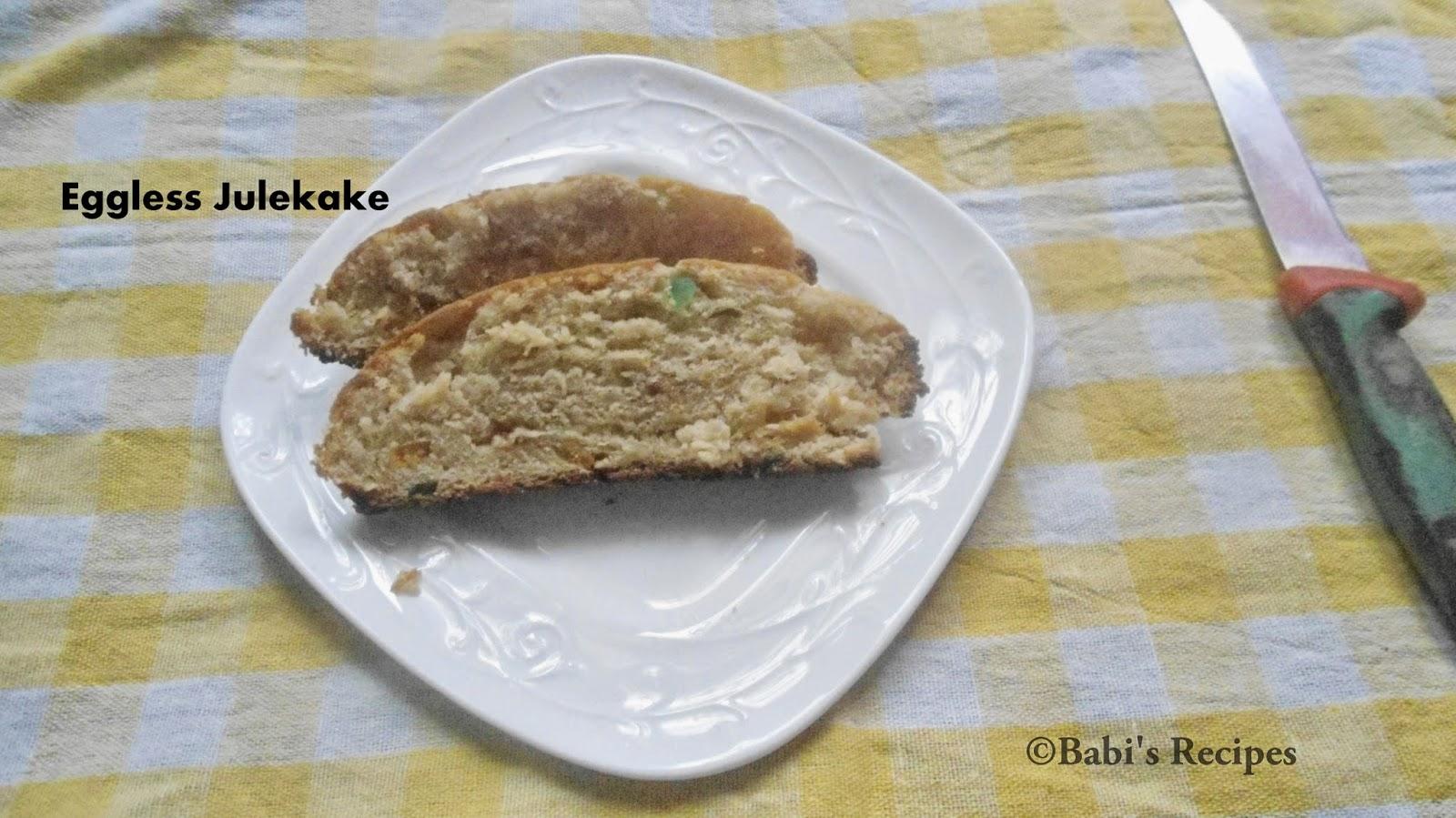 Babi \'s Recipes: Julekake - Norwegian Christmas Bread | Eggless ...