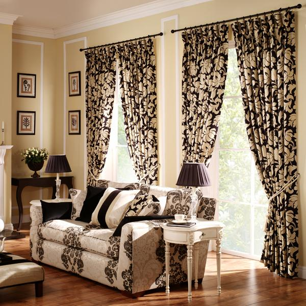 Modern furniture living room curtains ideas 2011 - Living room with curtains ...