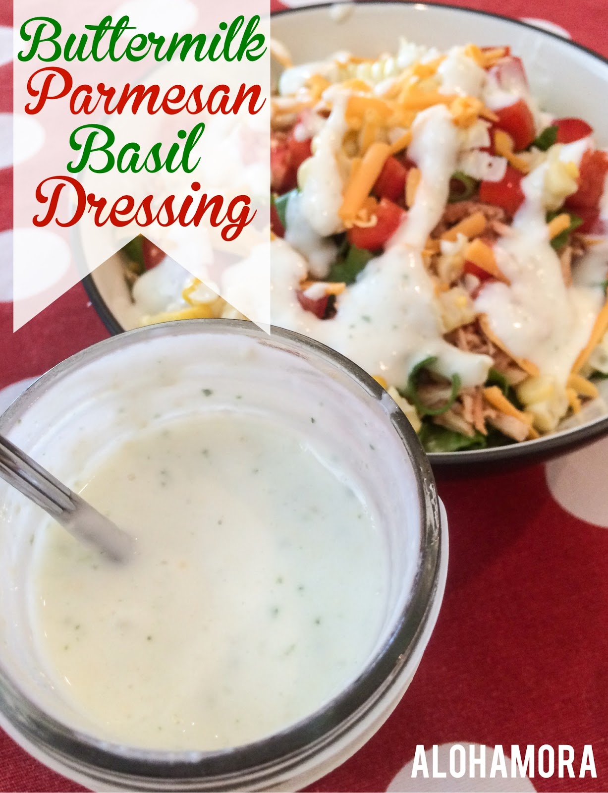 Fast and easy homemade Buttermilk Parmesan Basil Salad Dressing or Vegetable Dip.  Gluten Free Alohamora Open a Book http://alohamoraopenabook.blogspot.com/