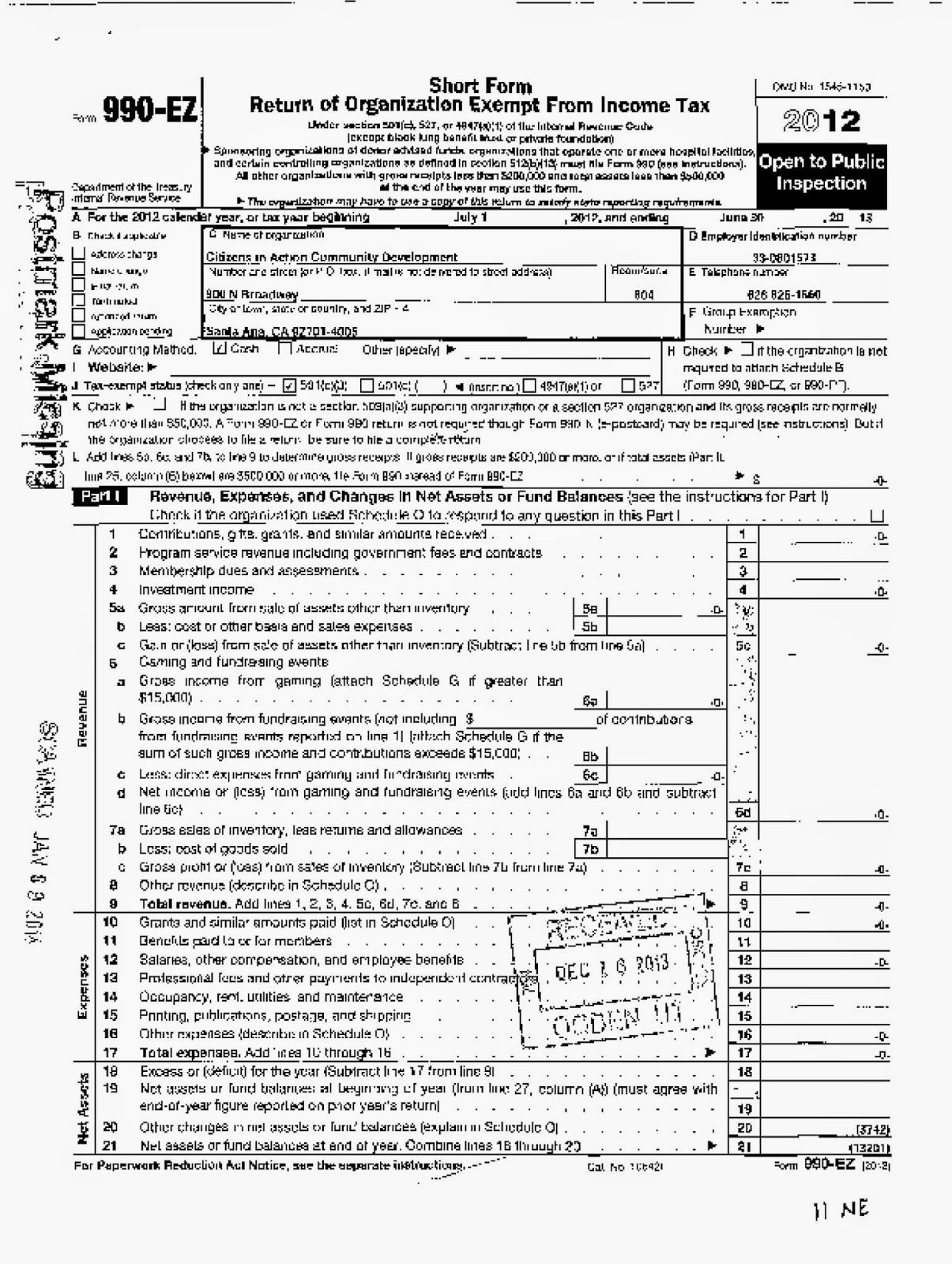Mayor sams sister city home of los angeles politics mayor sam page 1 of 2012 irs 990 form for the santa ana based citizen in action community development 501 c3 non profit organization falaconquin