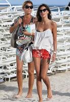 Claudia Galanti wears a Green BIkini at Miami