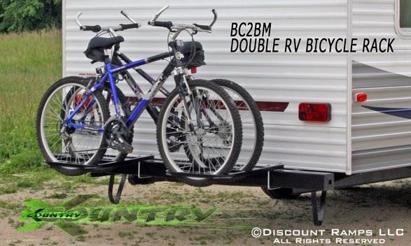 Fifth Wheel Bike Carrier Bumpers : Rv and camper bike racks bumper ladder roof