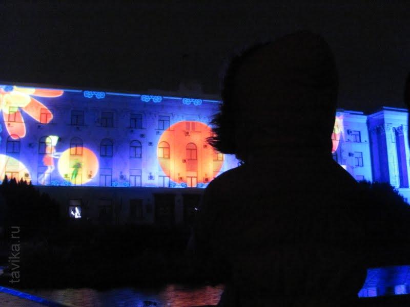 Новогоднее лазерное шоу в Симферополе