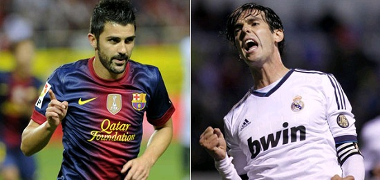 Kaka against Villa: Real Madrid vs Barcelona