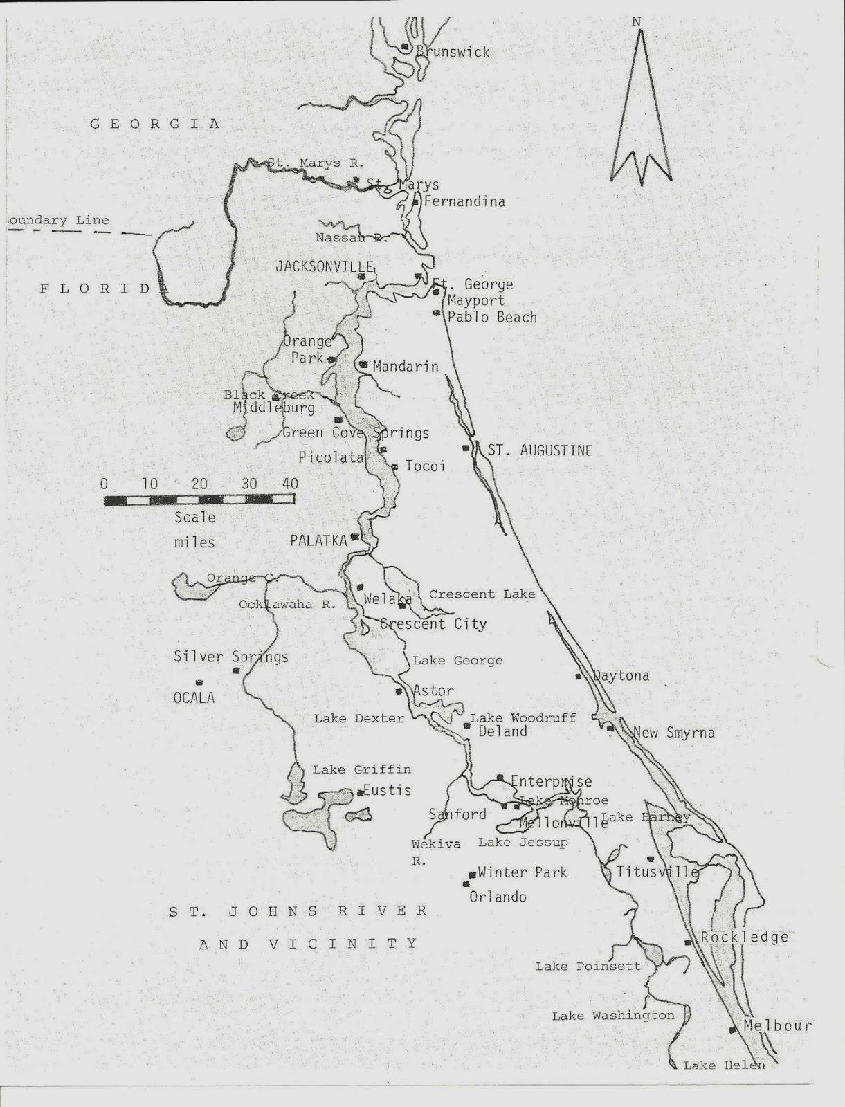 Newell History - Florida map eustis