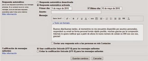 respuesta automática gmail