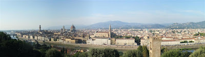 michaelangelos hill, florence, great view, italy