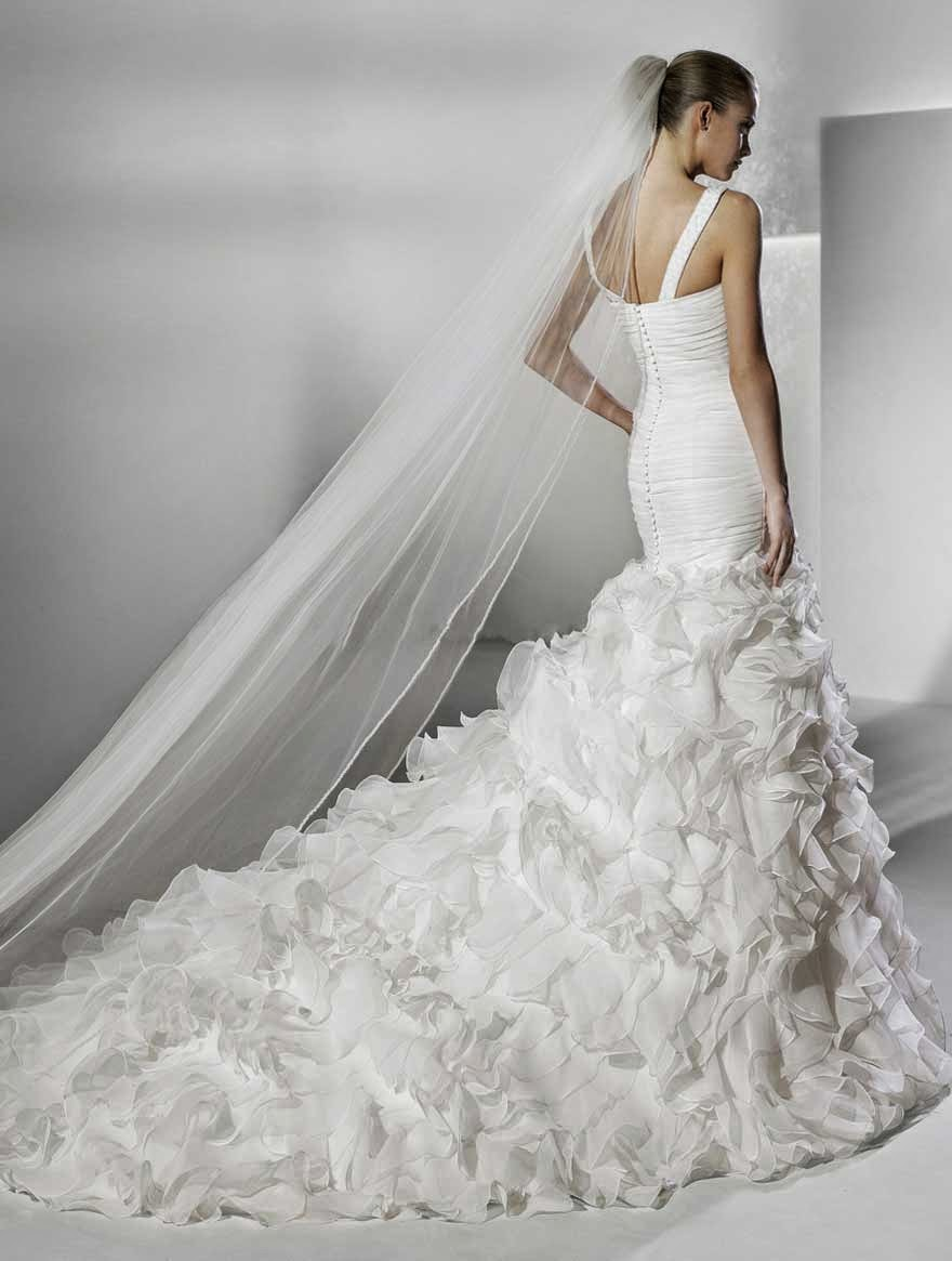 mermaid ruffles wedding dresses ideas photos