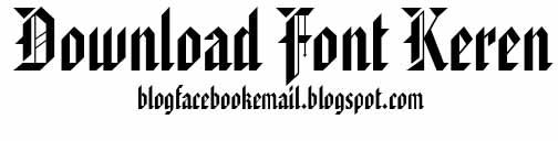 Download font keren American text BT
