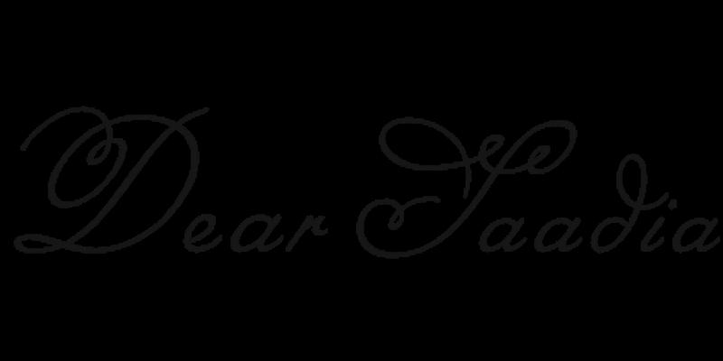 Dear Saadia