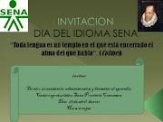 DÍA DEL IDIOMA. Publicado por Centro de Comercio en 08: . ada del idioma con fecha