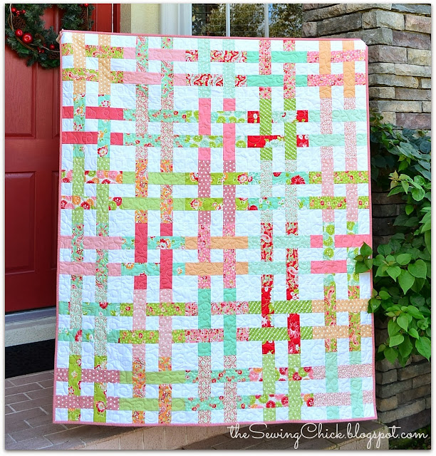 colorful modern handmade quilt