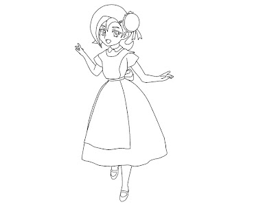 #13 Kotori Mizuki Coloring Page