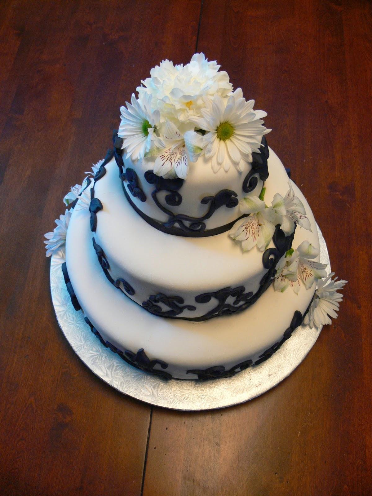 Ultimately Chocolate Cakes Black And White Themed Wedding Cakes
