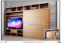 Lemari Sliding minimalis tipe tv Windows