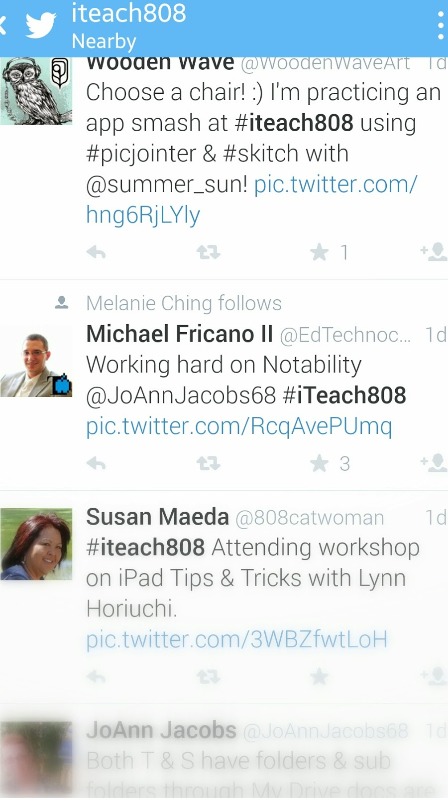 #iTeach808 Twitter Stream