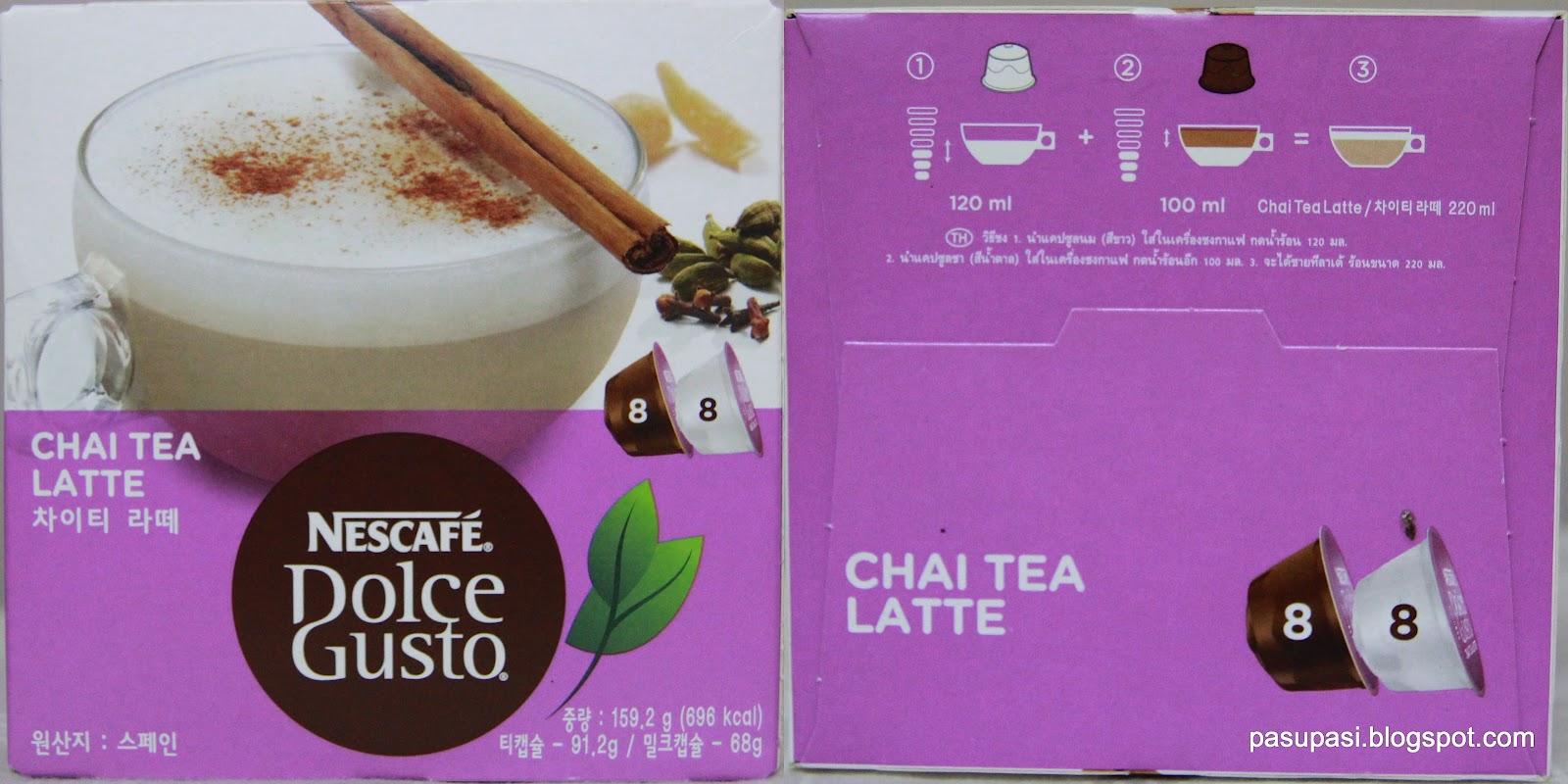 Chai tea latte dolce gusto