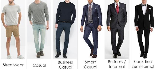 Các phong cách thời trang khác nhau ứng với từng Dress code