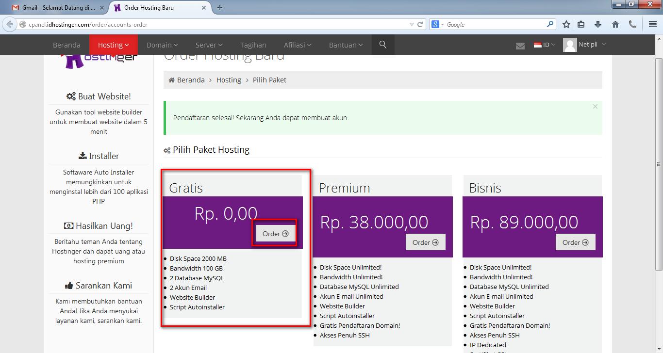Cara Mudah  Membuat Domain Dan Subdomain Gratis Dengan Hostinger Indonesia