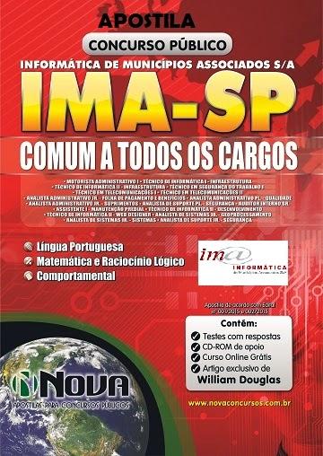 Apostila COMPLETA - IMA INFORMATICA de Municípios Associados - 2015.