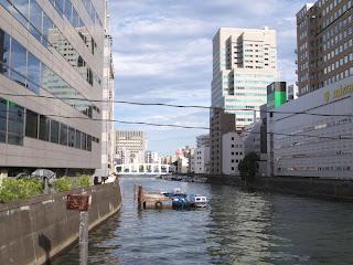 Toyomi Bridge from Minato Bridge, Chuo-ku, Tokyo.