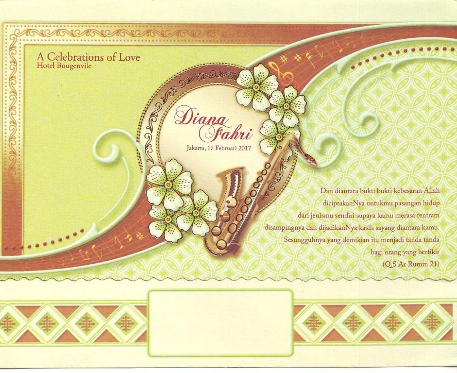 Kartu undangan pernikahan - Galaxy 029