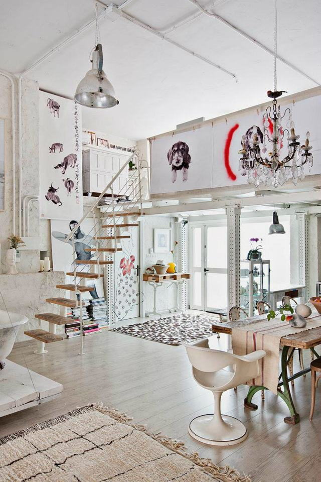 Interior un estudio en blanco vintage virlova style - Virlova style ...