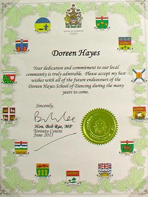 Canada Honors Doreen