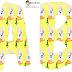 Alfabeto con conejito en fondo amarillo.