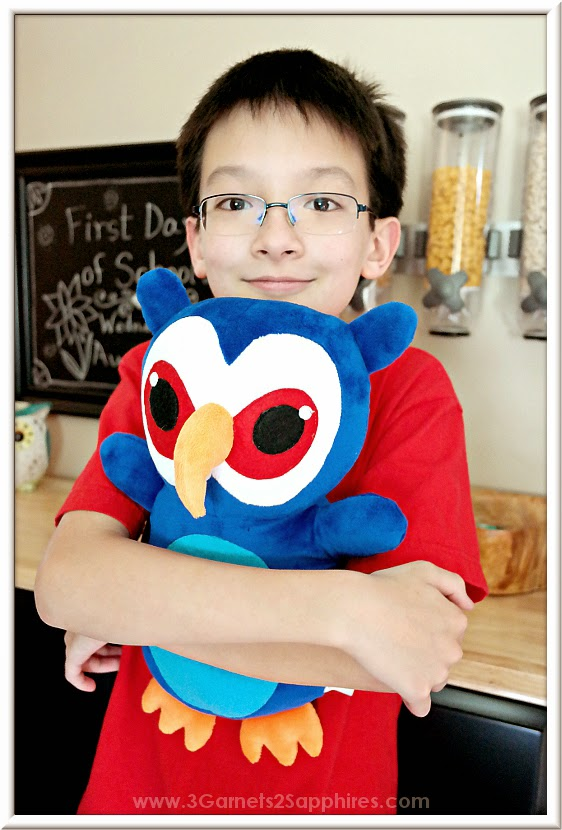 Custom plush owl based on children's artwork from #Budsies
