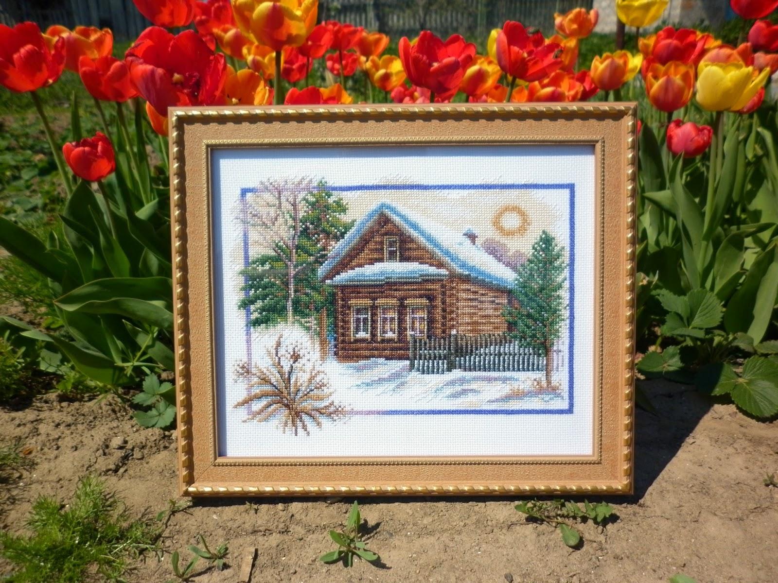 Домик в деревне вышивка набор 67