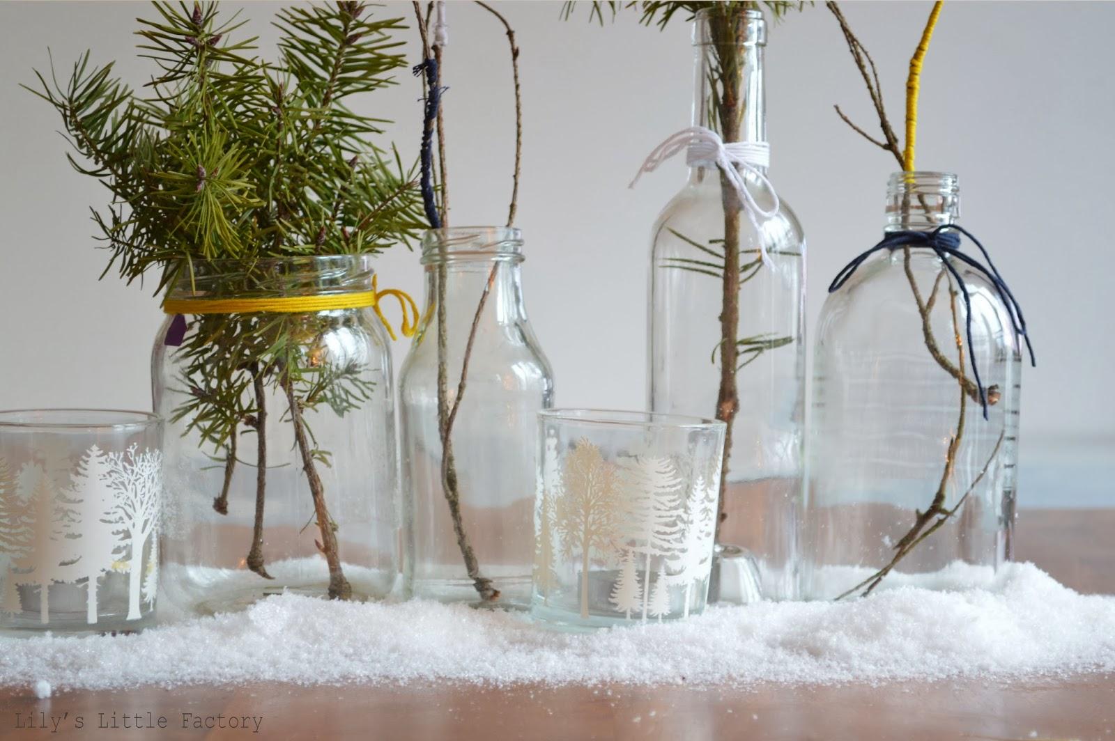it's christmas time #5} du verre, de la neige, du sapin, un centre