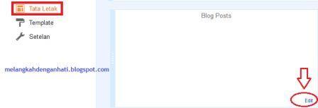 Mengatur jumlah posting yang muncul di home page blogger