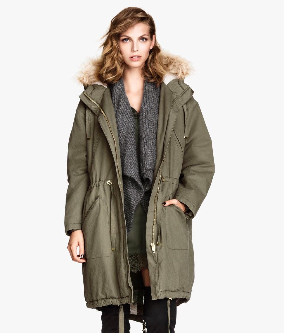 hm parka coat