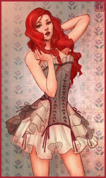 Jasmin Darnell ilustrações lindas mulheres vintage bonequinhas