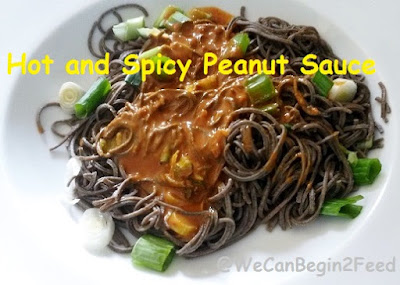 Hot and Spicy Peanut Sauce by @WeCanBegin2Feed