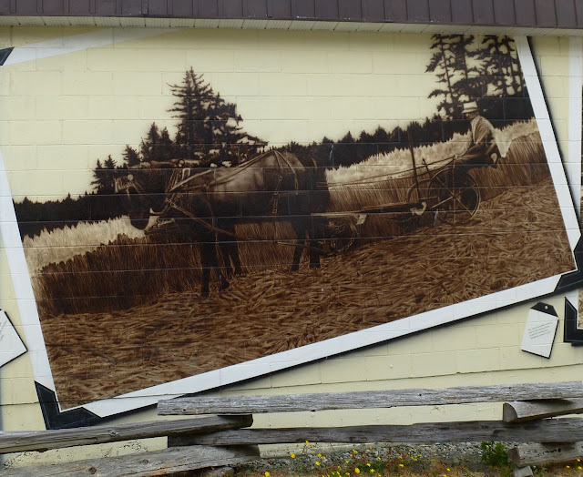 Sooke Agriculture Historium mural - mowing oats